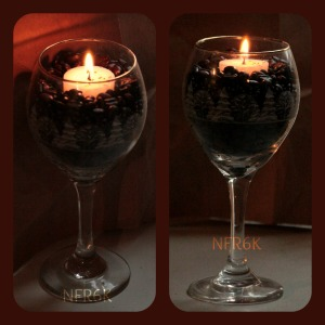 candle coffee Collage
