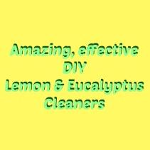 lemon eucalyptus cleaners