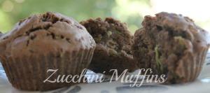 Zucchini muffins 1