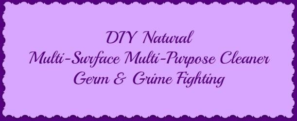 DIY natural cleaner