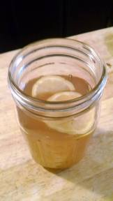 Dandelion tea water kefir