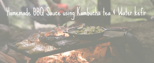 Homemade BBQ Sauce using Kombucha tea & Water kefir